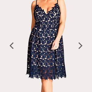 Citi chic navy lace overlay new never worn dress